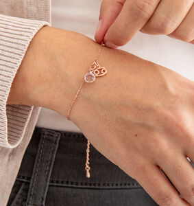 Rose Gold Plated Zodiac And Birthstone Bracelet