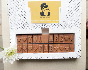 Personalised Chocolate Card In A Medium Box - stocking fillers for babies & children