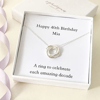 Personalised 40th Birthday Necklace