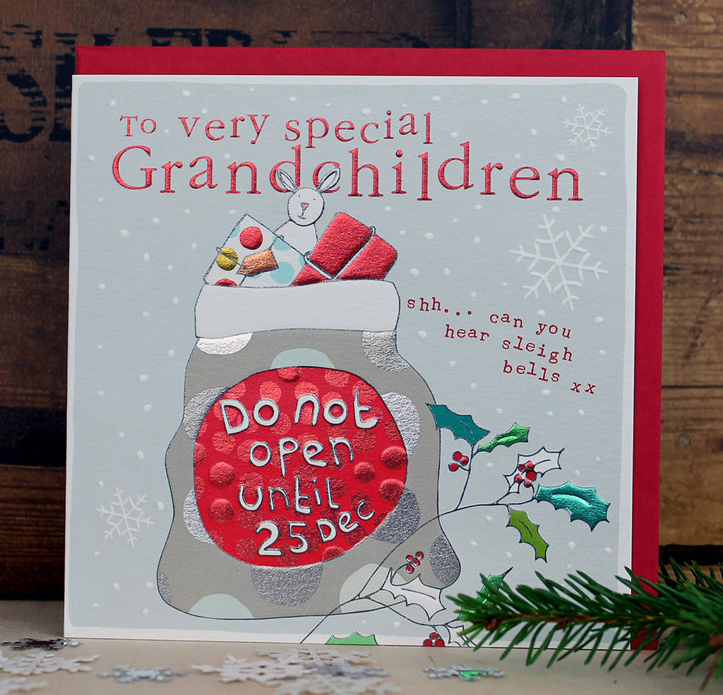 Christmas Greeting Cards Images.Christmas Card For Grandchildren