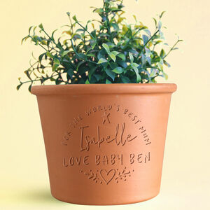 Personalised Handwritten Engraved Pot