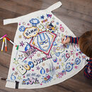Personalised Superhero Colour In Cape With Fabric Pens