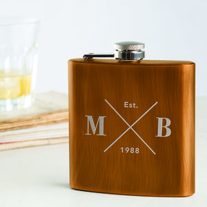 Personalised Engraved Hip Flask For Him