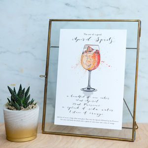 'The Art Of A Good…' Cocktail Watercolour Print - posters & prints