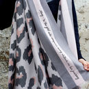 Personalised Cashmere Blend Leopard Scarf