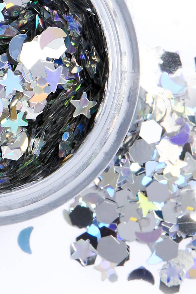 Silver Selene Chunky Glitter