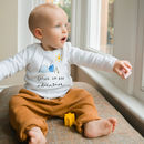 'Going On An Adventure' Long Sleeve Baby Tshirt