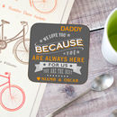 Personalised 'Reasons I Love You' Father's Day Coaster
