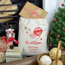 Personalised Love From Santa Christmas Sack