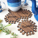 wooden jigsaw coasters