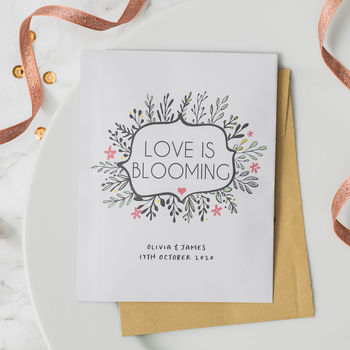 10 'Love Is Blooming' Wedding Favour Seed Packets