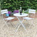 Stylish Grey Metal Bistro Table And Chair Set