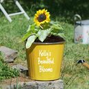 Personalised Sunshine Yellow Planter Bucket