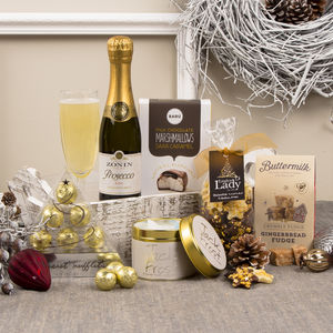 Prosecco Indulgence Christmas Gift Hamper - chocolates & confectionery