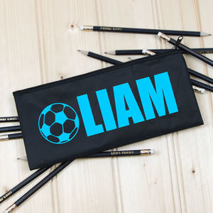Personalised Vinyl Name Pencil Case Optional Pencils - crafts & creative gifts