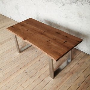 Clifton U Shaped Live Edge Legs Table - dining tables