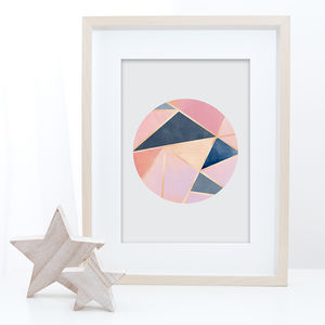 Geometric Abstract Wall Art Print - modern & abstract