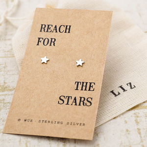 'Reach For The Stars' Silver Earrings - christmas jewellery