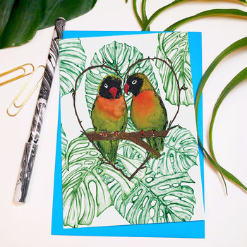 Love Birds A6 Greeting Card