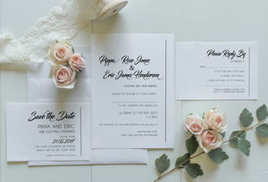 Simplicity Wedding Invitation - what's new