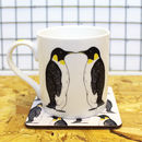 Penguin Mug and Coaster Wedding Gift Set