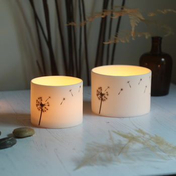 Dandelion Porcelain Ceramic Candle Holder