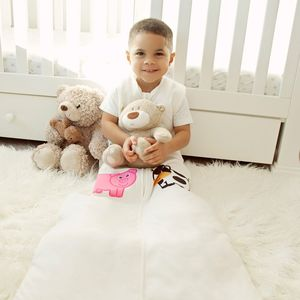 Personalised Cream Sleeping Bag - baby sleeping bags