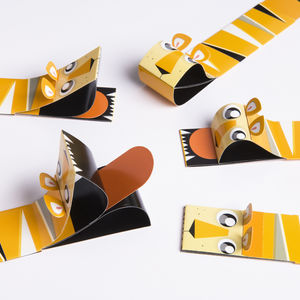 Five Pack Of Tiger Bookbeast Bookmarks