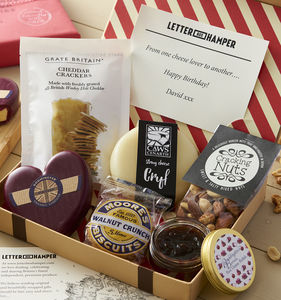 Cheese Lovers Letter Box Hamper - personalised