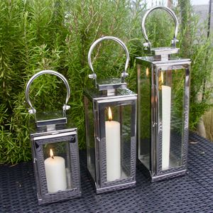 Steel New York Lantern - candles & candle holders