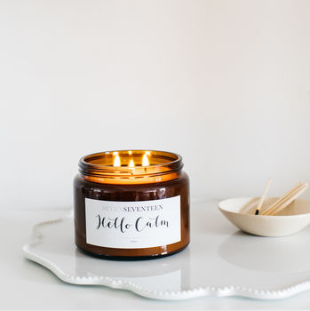 'Hello Calm' Moroccan Rose Scented Candle
