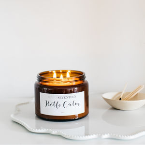 'Hello Calm' Moroccan Rose Scented Candle - the candle emporium