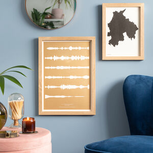 Risograph Reverse Printed Sound Wave Print