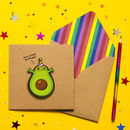 Handmade Fun Avocado Birthday Card
