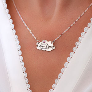 Personalised Graduation Necklace In Sterling Silver