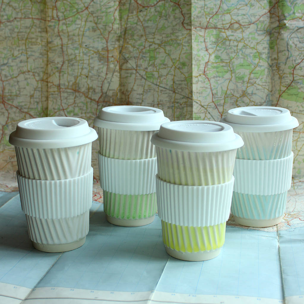 Eco Cup Coffee Mug Ceramic Travel FKcJTlu13