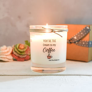 'Cream To My Coffee' Scented Candle - candles & home fragrance
