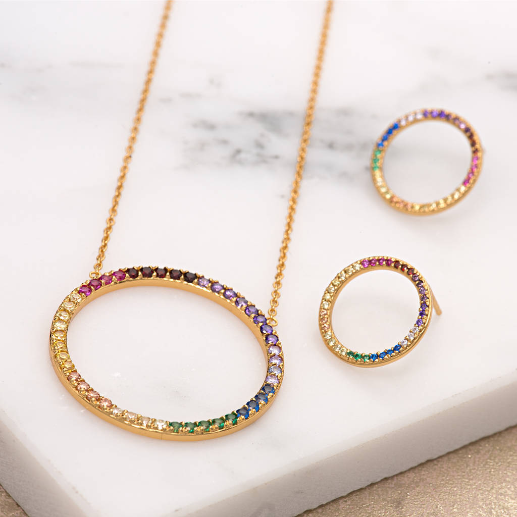 de geo cube image necklaces necklace coeur lion rainbow