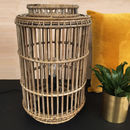 Large Rattan Floor Lamp