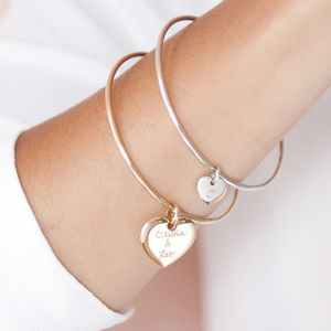 Personalised Charm Bangle - bracelets & bangles