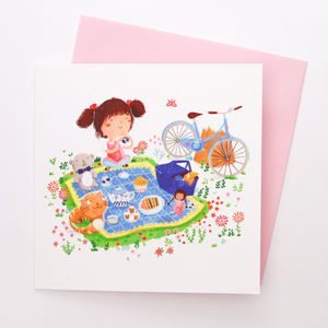 A Blank Picnic Greetings Card