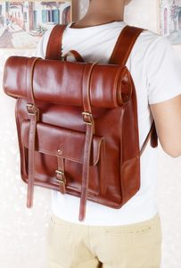 Eazo Rolltop Premier Leather Backpack