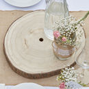 Wooden Slice Center Piece Slice Centrepiece