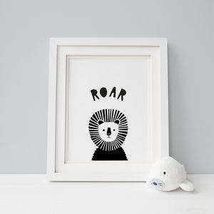 Peekaboo Lion, Lions Say Roar Print - whatsnew