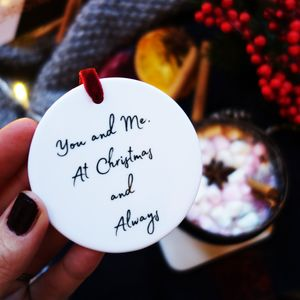 You And Me Couple Christmas Decoration Keepsake