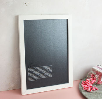Personalised Paragraph Black Print For Her