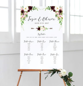 Bella Wedding Table Plan