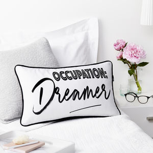 Occupation Dreamer Boudoir Cushion