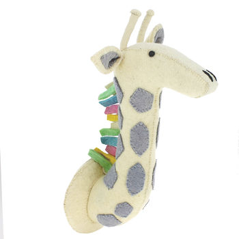 Pastel Giraffe Safari Wall Head