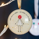 Personalised Grandma Christmas Bauble